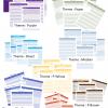 Weekly Planner Template Variations