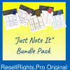 Just Note It Planner Template Bundle