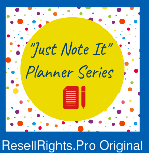 """""""Just Note It"""" Planner Template"""