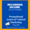 Recurring Income Strategies -Promotional Assets & Content Marketing Tool Kit-Cover
