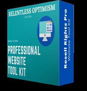 Relentless Optimism -Website Kit