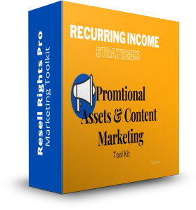Recurring Income Strategies -Promotional Assets & Content Marketing Tool Kit